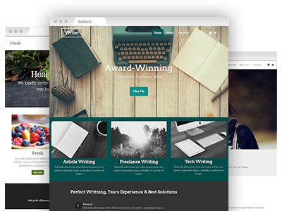 An assortment of easy–to–customize website templates